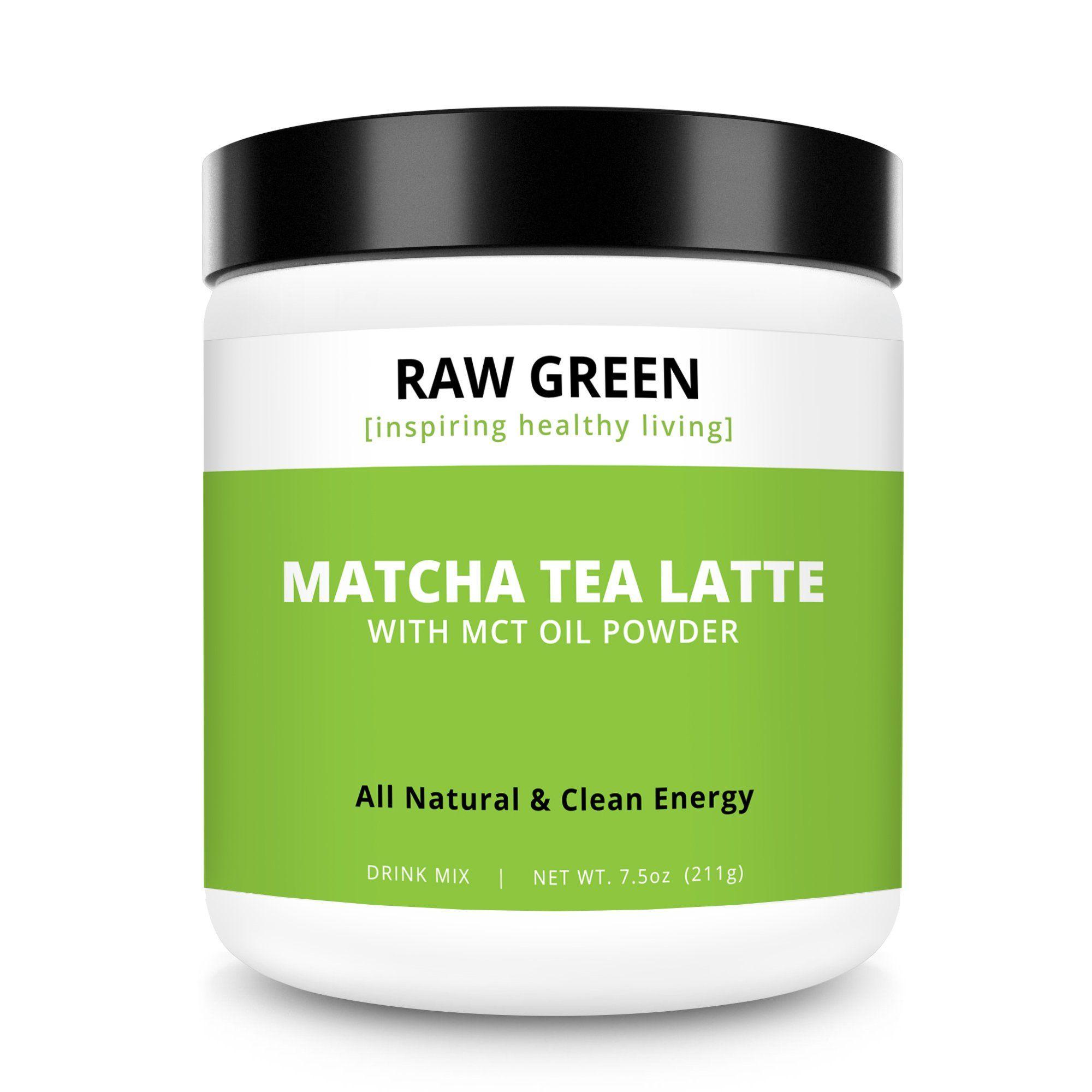 Matcha Tea Latte With MCT Oil Powder