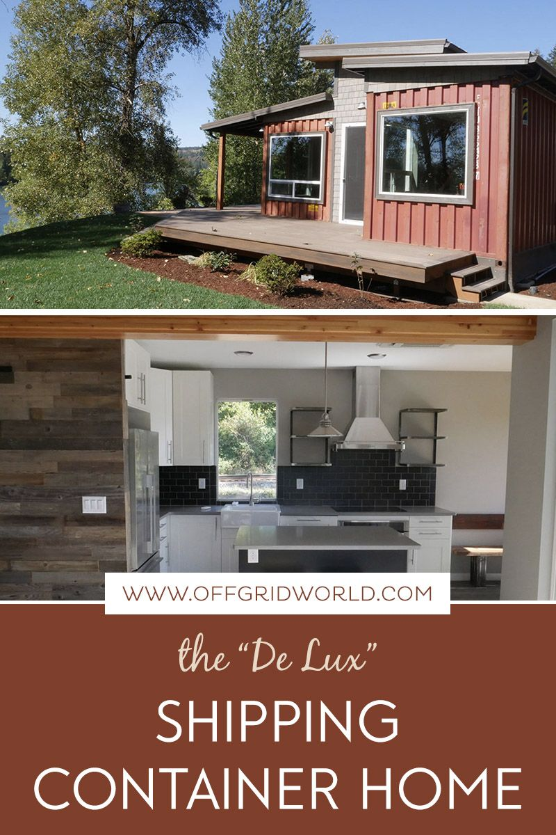 De Lux Shipping Container Home By Relevant Off Grid World Container House Shipping Container Homes Tiny Houses For Rent