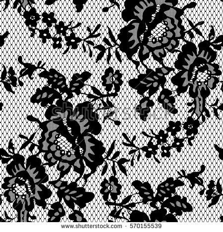 seamless black vector lace pattern 12 ophelias gobos pinterest rh pinterest co uk vector lace pattern free download vector black lace patterns