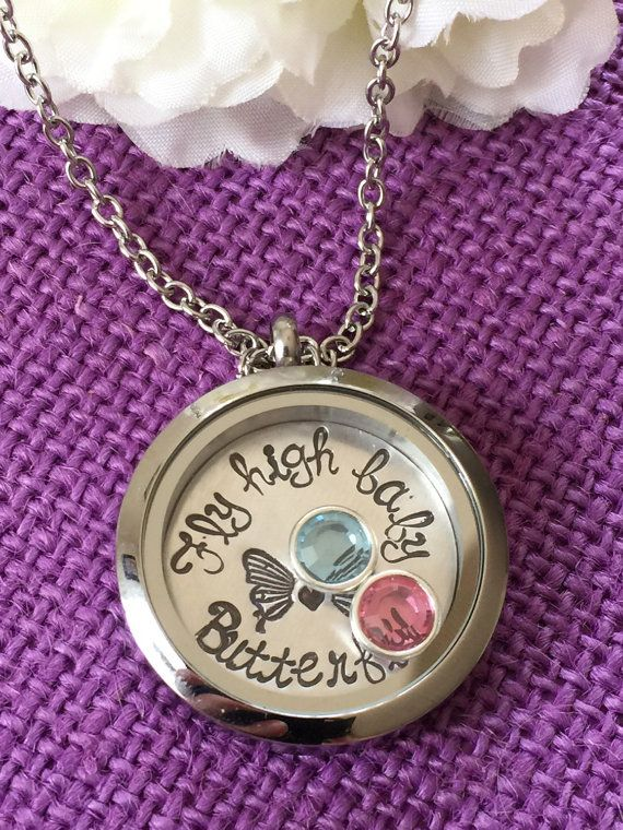 Miscarriage necklace miscarriage jewelry infant loss awareness miscarriage necklace miscarriage jewelry infant loss awareness fly high baby butterfly mommy of an angel floating locket gift aloadofball Choice Image