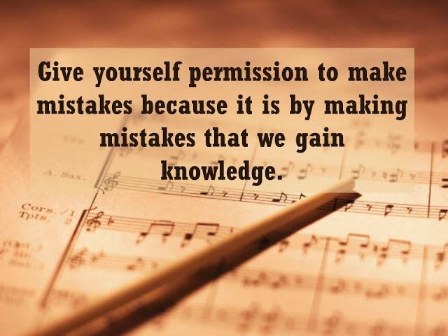 Woman, Wife, Mother And A Professor: Give Yourself Permission To Make  Mistakes