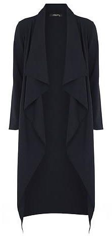 Womens navy fever fish waterfall jacket from Dorothy Perkins - £30 at ClothingByColour.com