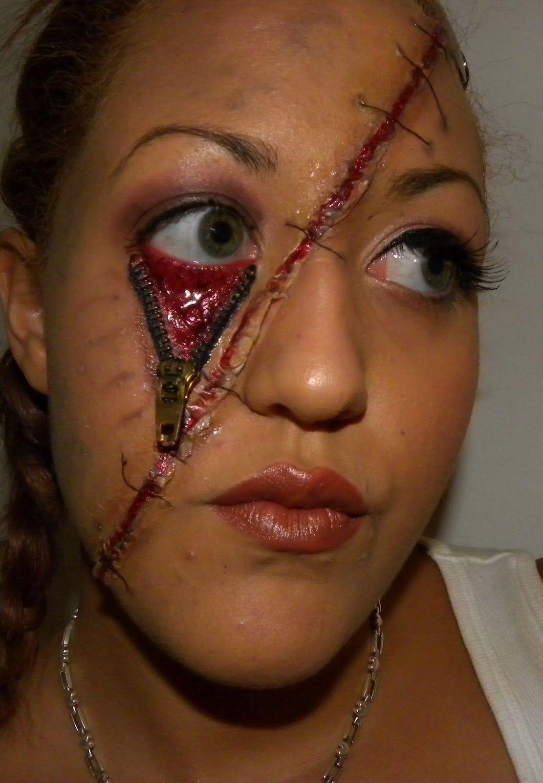 Unzipped Eye Makeup Face Makeup Halloween Face Makeup