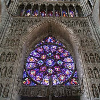 Gothic Reims Cathedral Stained Glass Church Gothic Cathedrals