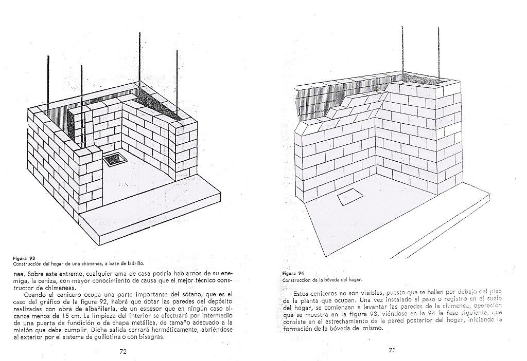 Como construir una chimenea de obra pinterest - Como disenar una chimenea de lena ...