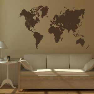 Map of the world vinyl wall sticker art decal new giant stencil map of the world vinyl wall sticker art decal new giant stencil vinyl mural bn12 gumiabroncs Image collections