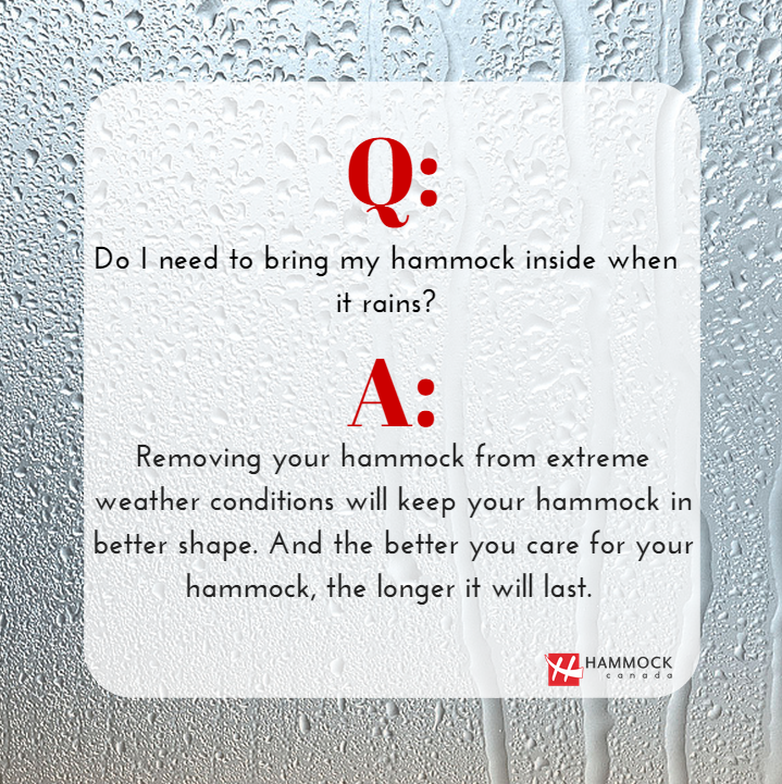 Hammock Tips Extreme weather, Hammocks inside, Hammock