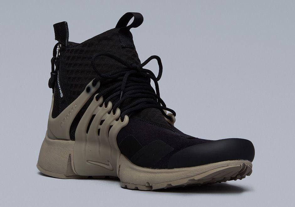 b074d03bc7 Nike Air Presto MID Acronym All Black Mens Running Shoes - BE SEEN.