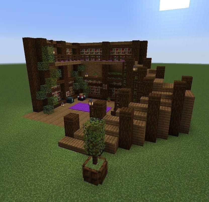 Minecraft Small Library Design Exterior