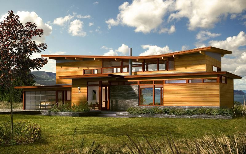 gorgeous green homes from turkel lindal cedar homes. Interior Design Ideas. Home Design Ideas