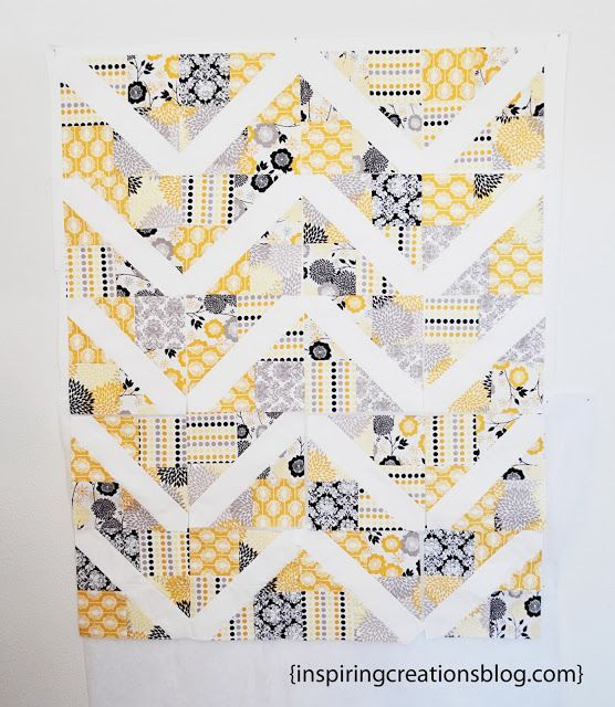 """4-Patch Slice Free Quilt Pattern and Tutorial:    Supplies 80 squares cut 5"""" x 5"""" OR 2 Charm packs- I used Riley Blake's Andrea Victoria Line1 1/2 yards white for strips and inner border1 yard for o"""