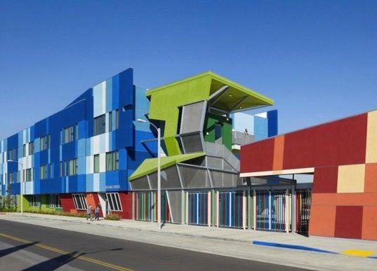 Eye-Popping SRES 2 Rainbow School Brightens Up a Rundown Community in Los Angeles