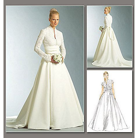 Vogue Women\'s Bridal Original Dress Sewing Pattern, 2979 | Dress ...