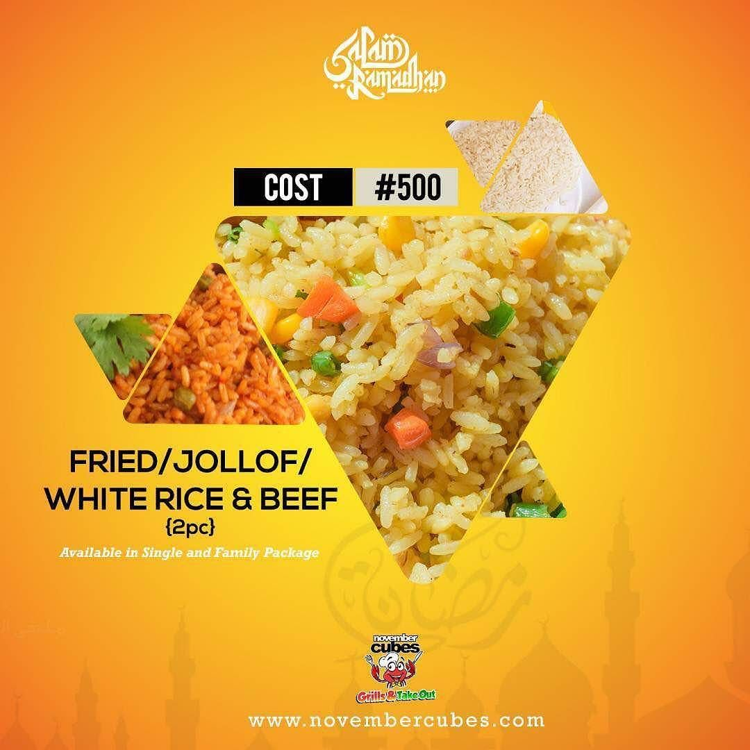 All happiness depends on a leisurely meal ! @  November Cubes 'grills & takeout ' we are all about DELIVERING HAPPINESS to you and yours throughout  the holy month of Ramadan and BEYOND! !! Order online @ http://ift.tt/1J58xqw or call 08174398592 to have a Happy meal delivered to your door step ! #FREE DELIVERY # open 24/7 # we are all about you # Ramadan Kareem