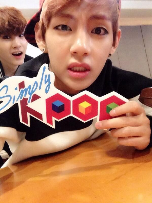 simply kpop uploads selca of taehyung