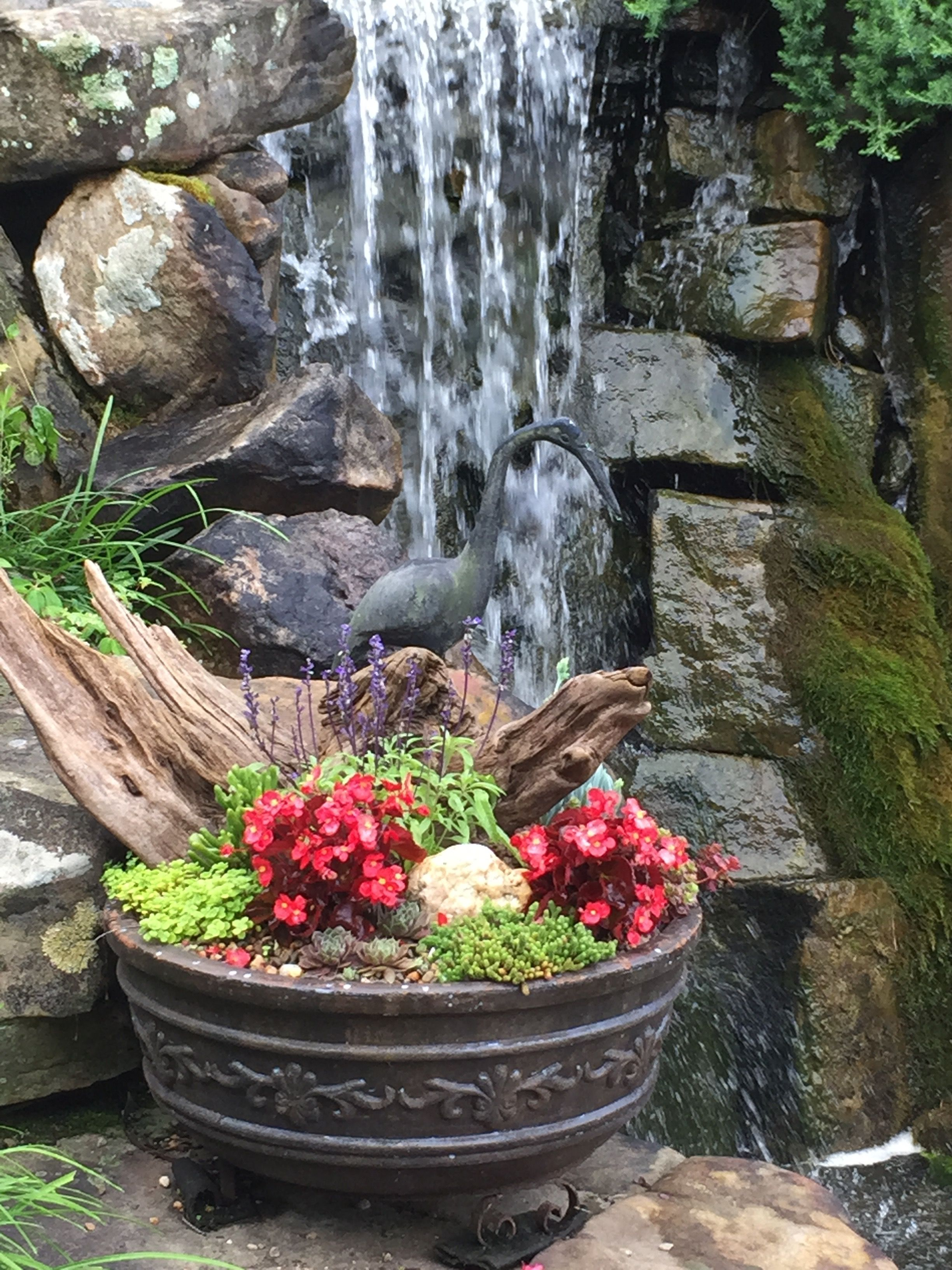 garden waterfall container Garden Containers