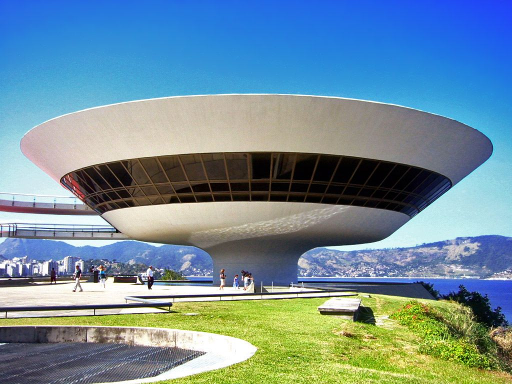 Image result for The Niteroi Contemporary Art Museum, Brazil