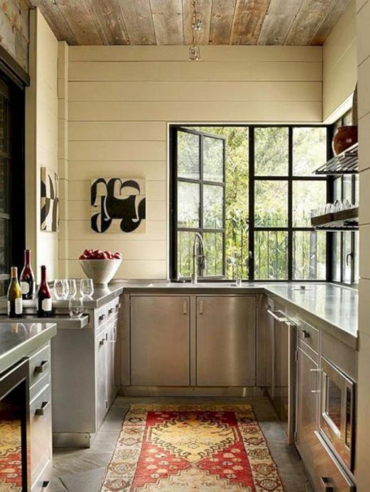 25 Super Modern Stainless Steel Kitchen Cabinet Design For Cozy