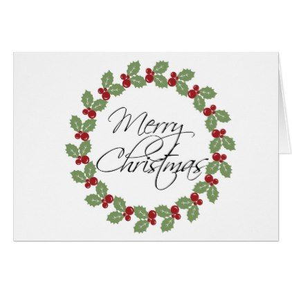 Blank Holiday Christmas Card