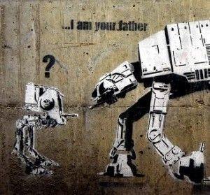 I AM YOUR FATHER BANKSY CANVAS STREET ART PRINT ARTWORK