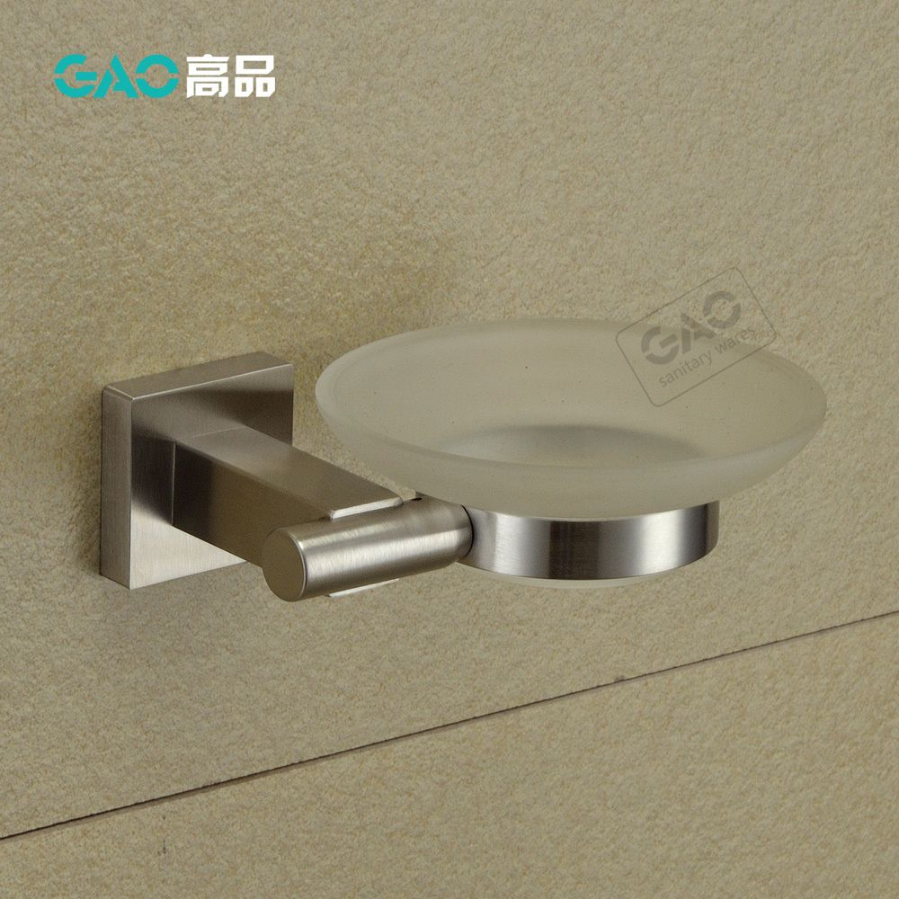 Free Shipping Sus 304 Nickel Brush Square Soap Dish Holder Soap Basket Soap Box Bathroom Accessories Products Dish Soap Holder Bathroom Accessories Soap Holder