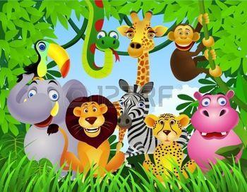 Selva Caricatura Dibujos Animados De Animales Drawings Animal