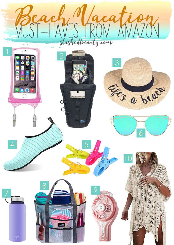 10 Beach Vacation Must Haves from Amazon Beach vacation