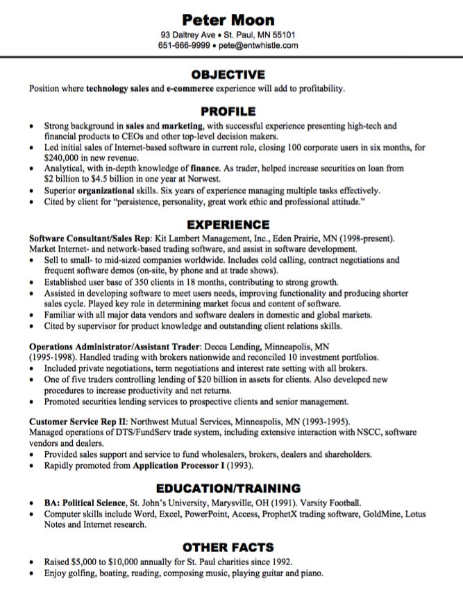 E Commerce Resume Sample Examples Resume Cv