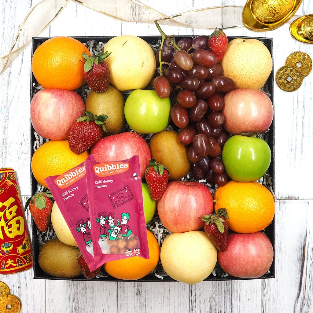 Chinese New Year Healthy Nuts & Fruit Hamper. Free