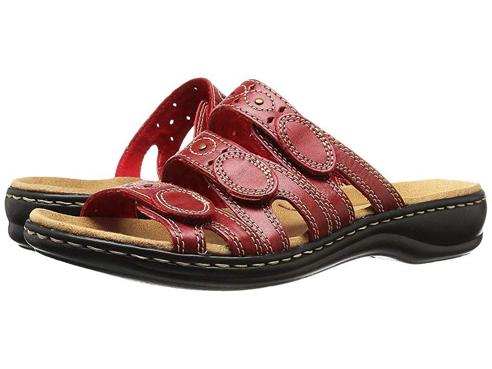 39c31382773c Clarks Leisa Cacti Q (Red Leather) Women s Sandals. The Leisa Cacti Q is  part of the Clarks Bendables Collection. Sweet summer style is calling your  name so ...