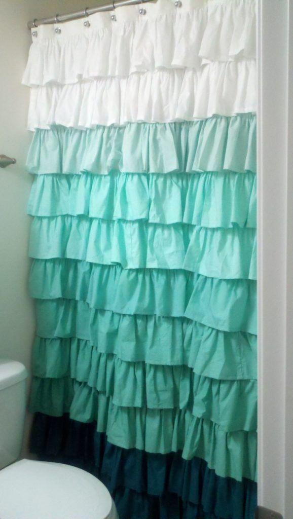 Ombre Ruffle Shower Curtain | Shower Curtain | Pinterest | Ruffle ...