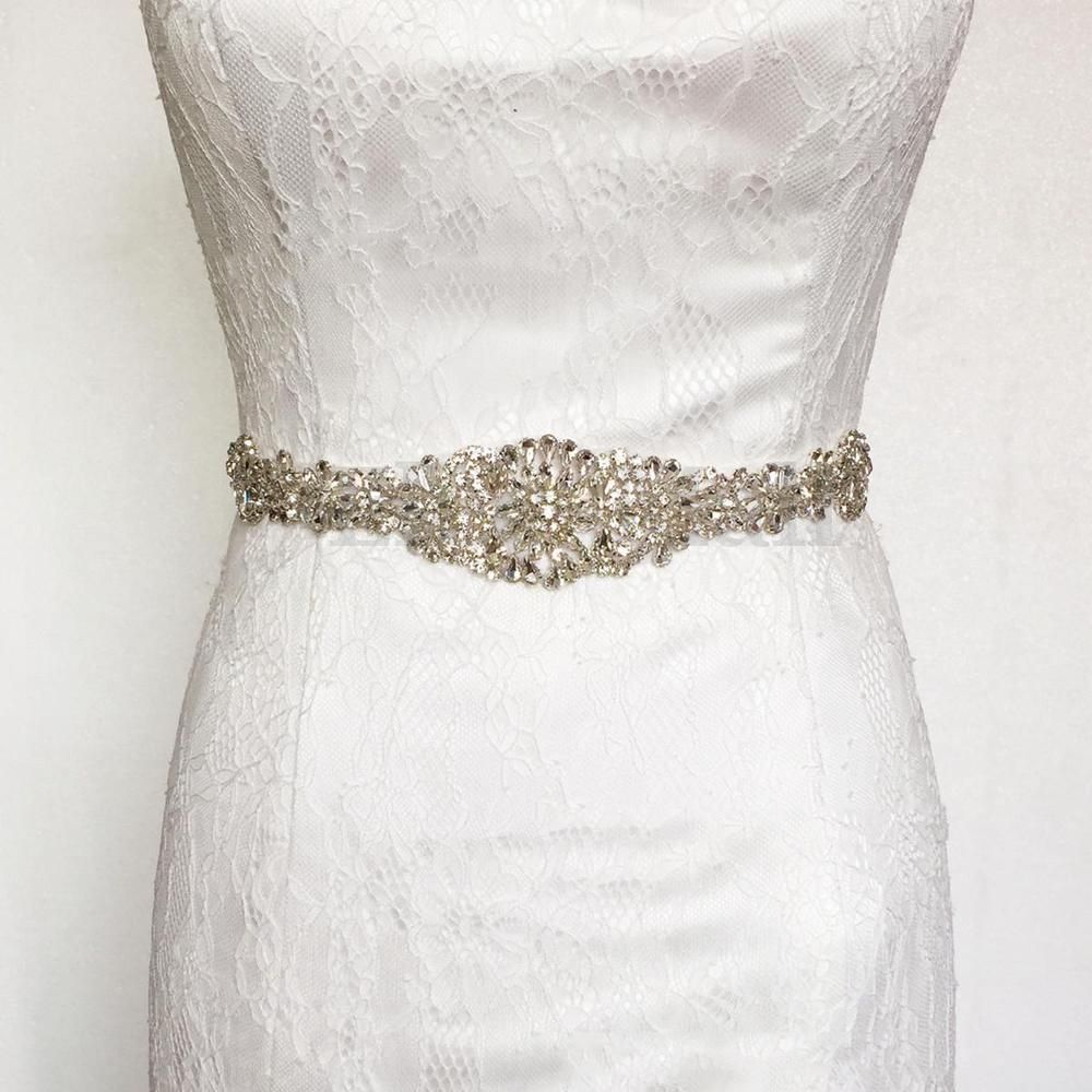 Vintage Handcrafted Crystal Rhinestones Bridal Sash Wedding Dress Belt 10  Colors cd62eaaa8655