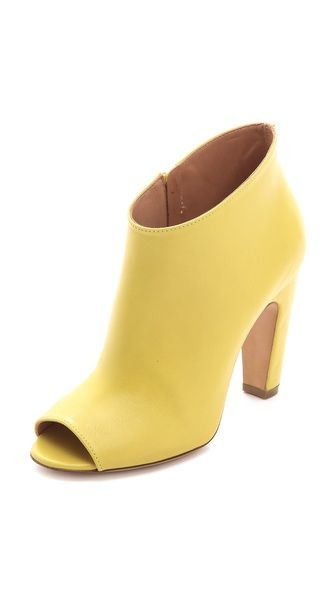Maison Martin Margiela Curved Heel Booties #yellow