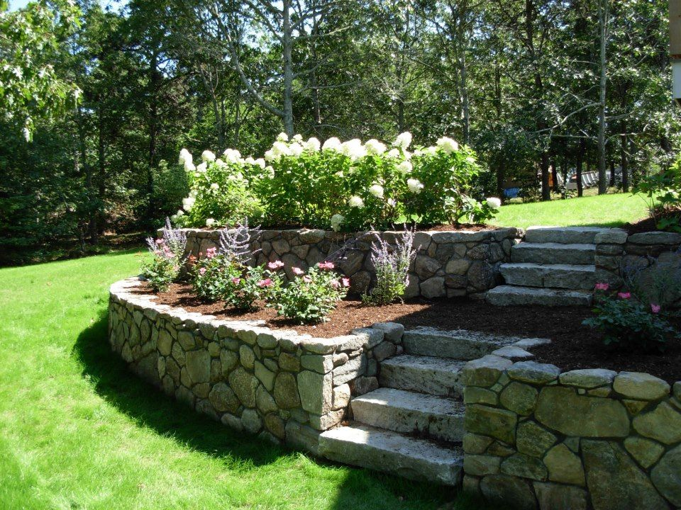 Retaining Walls with Flower Beds Nickerson Tree and