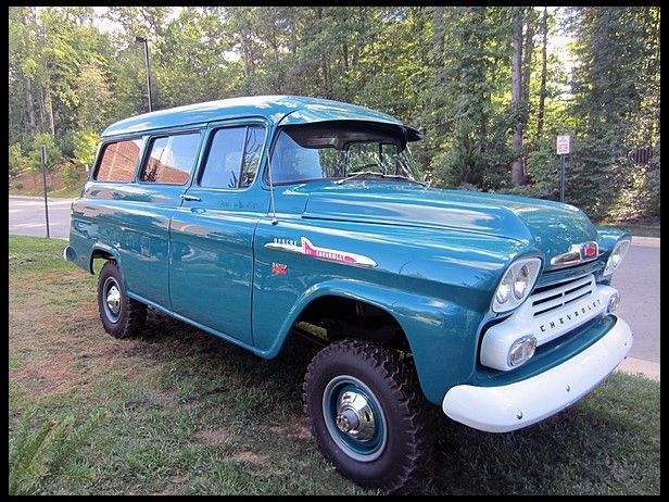1958 Chevrolet Suburban Napco 4 Wheel Drive Mecum Auctions