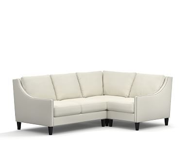 Pasadena Upholstered 3 Piece Sectional With Corner Sofa