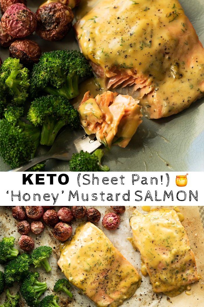 (Sheet Pan!) Keto Honey Mustard Salmon - gnom-gnom