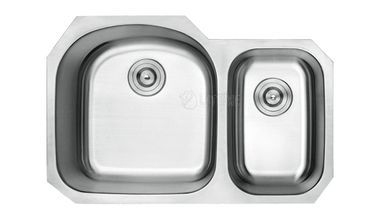 Lottare 800107 Double Bowl Stainless Steel Sink 70 30 Products
