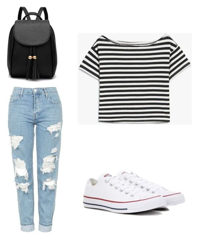 """""""Casual"""" by babu-valarezo on Polyvore featuring Topshop and Converse"""