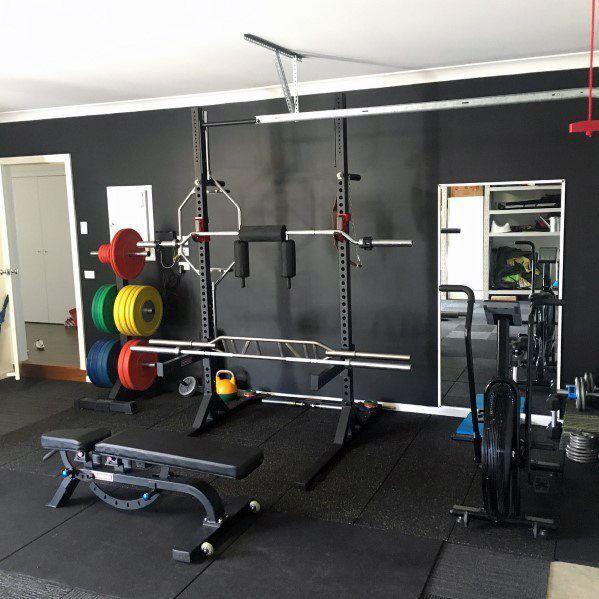 Top 75 besten Garage Gym Ideen – Home Fitness Center Designs - Mann Stil | Tattoo - #besten #center...