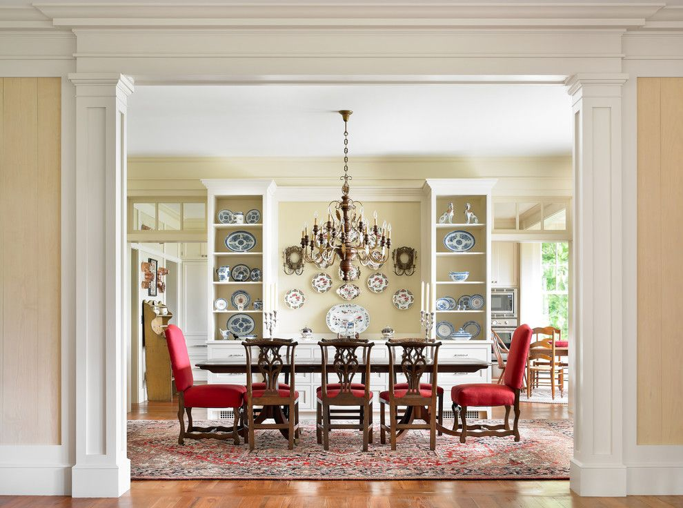 Dining Room Built In Buffet Ideas Traditional With Wood Floors Display Cabinets