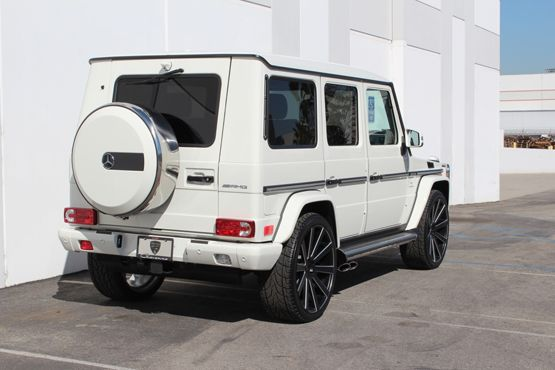 Mercedes g wagon white mercedes benz g wagen g55 g class for Mercedes benz g wagon black matte