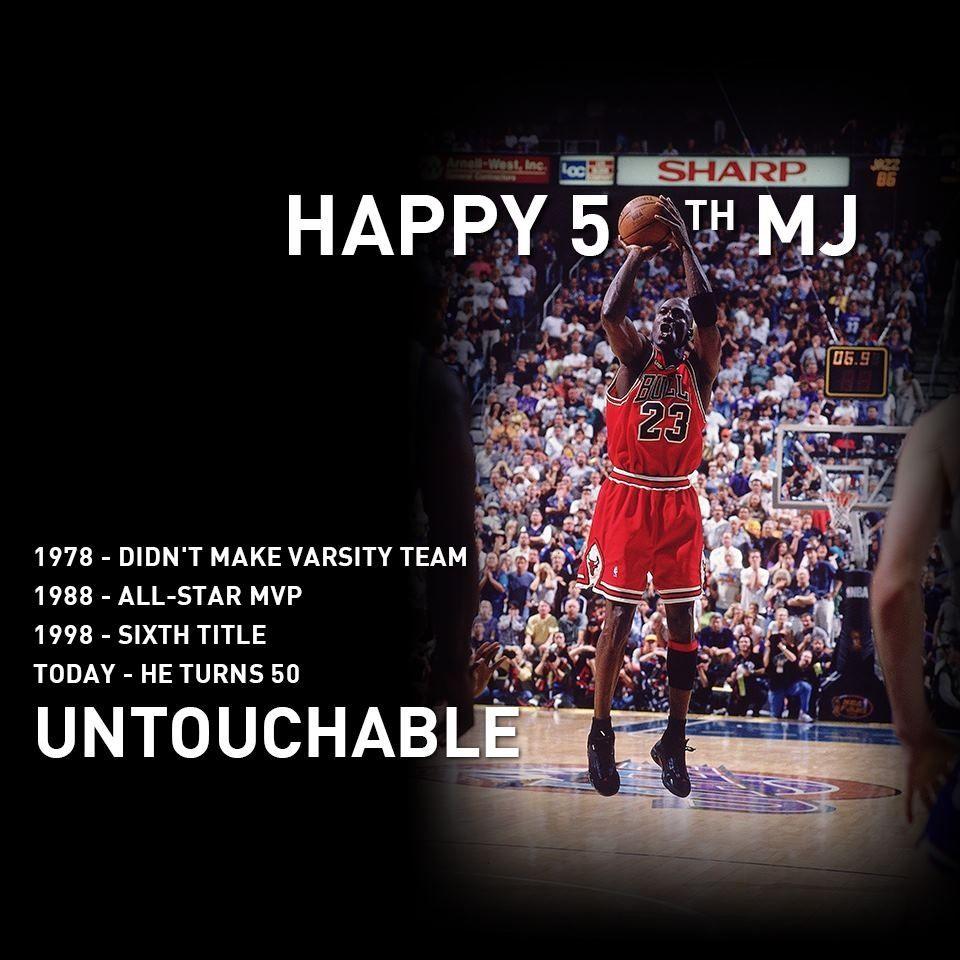 Happy 50th to the GOAT Michael Jordan. My first hero, my