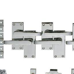 cd0ac8262b20 Wickes New York Victorian Straight Latch Handle Set Chrome Finish 3 Pack |  Wickes.co.uk