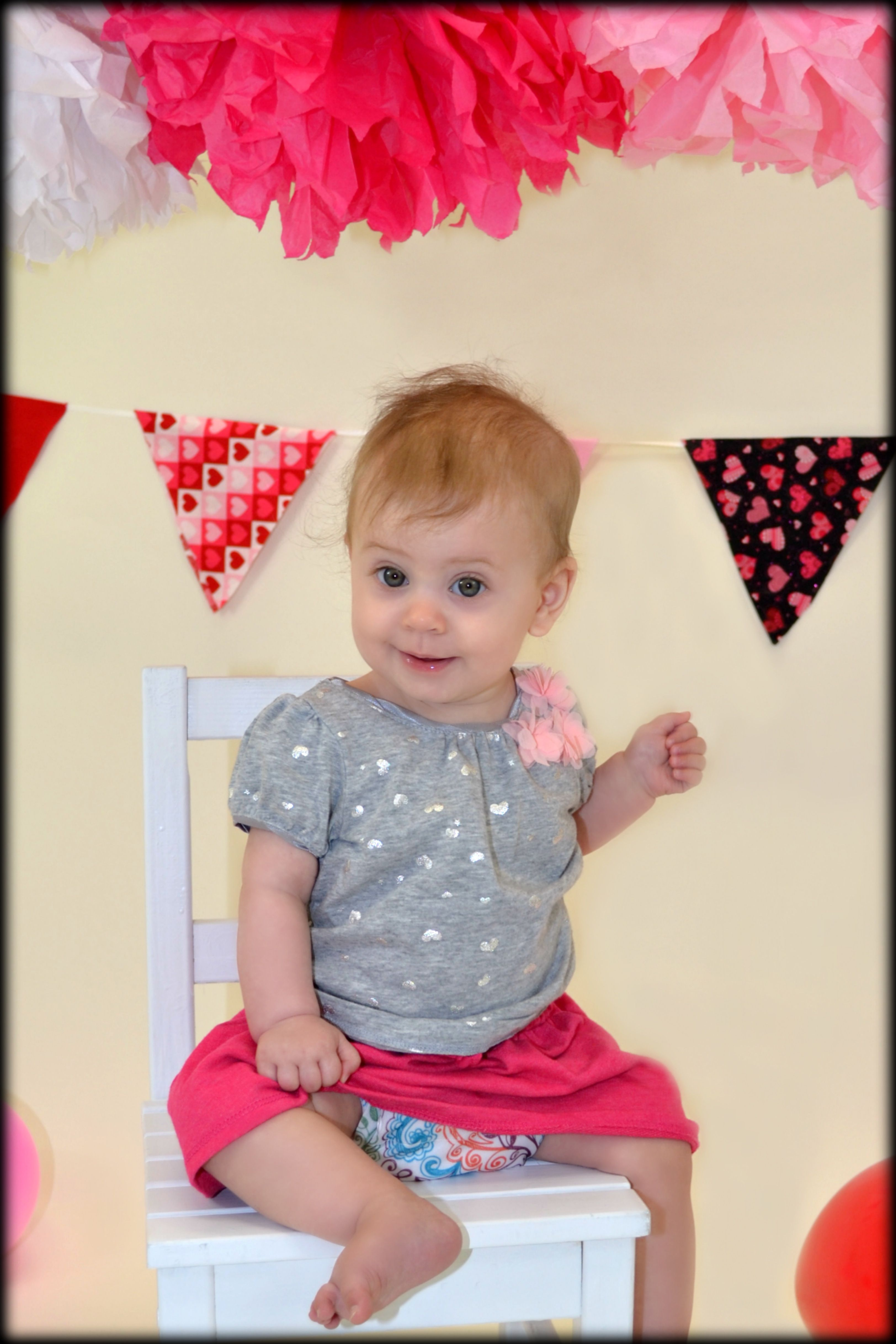 9. Showing off her beautiful Bum Genius Lovelace Freetime cloth #clothdiapers #nopins