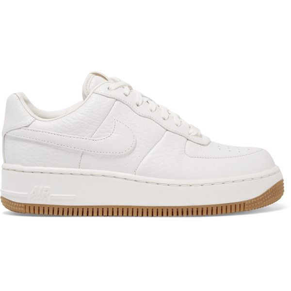 Nike Nike - Air Force 1 Upstep Textured-leather Sneakers - Off-white (