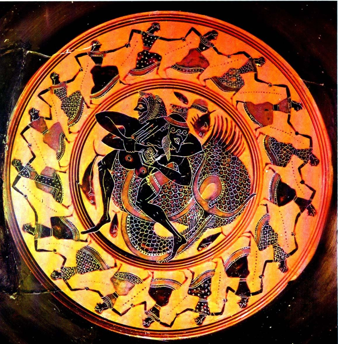 Centuriespast Hercules Fights With Triton Son Of