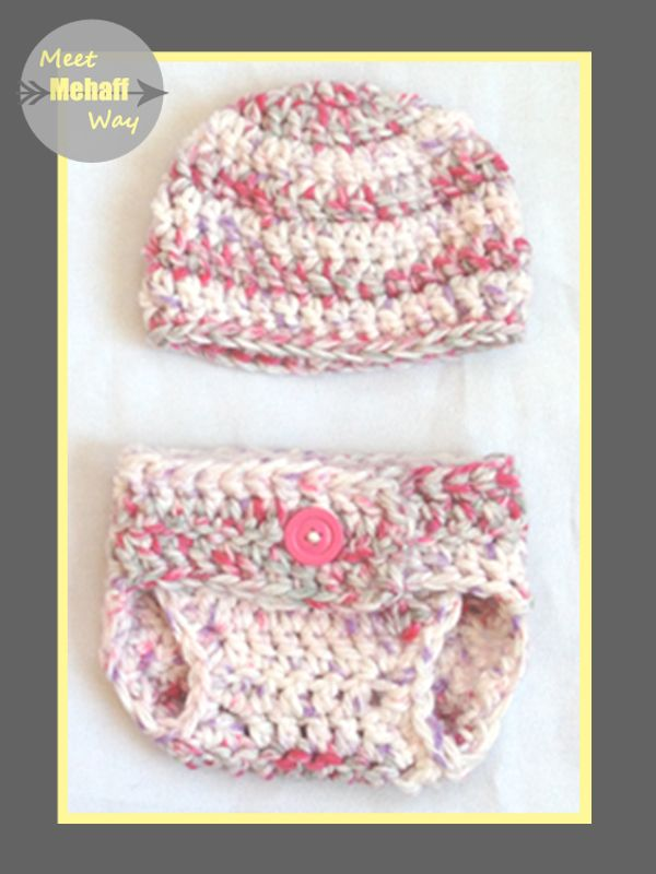 Meet Mehaff Way Pattern Easy Crochet Chunky Diaper Cover 0 3