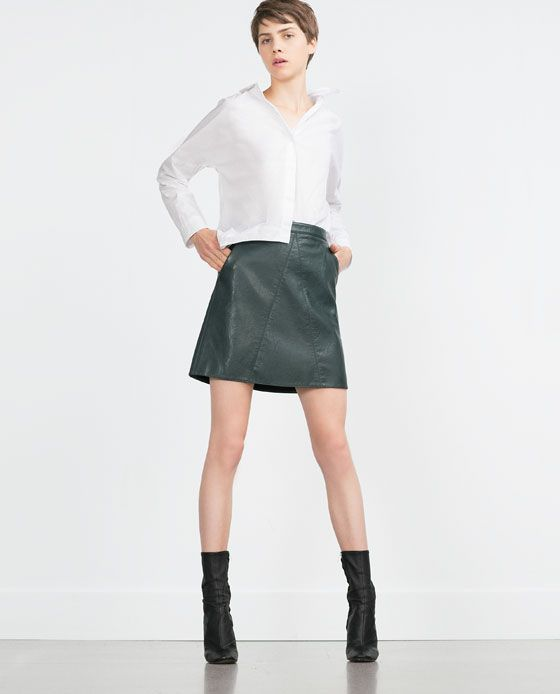 ZARA - WOMAN - FAUX LEATHER SKIRT | Fall/Winter 2016 | Pinterest ...