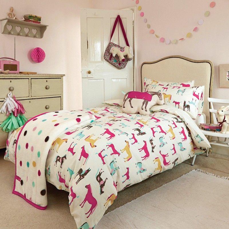 Horse Print Bedding | Horseplay | Joules Childrens Bedding ...